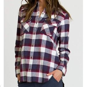 RVCA Plaid L/S Wanted Button-down Flannel Shirt